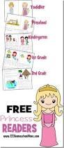 free princess reader printable books toddler preschool