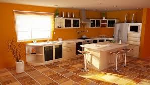 d馗oration peinture cuisine modèle deco cuisine peinture orange