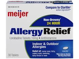 meijer loratadine allergy relief 10mg 30 count tablets meijer com