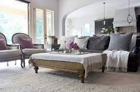 Using An Ottoman As A Coffee Table Coffee Table Styling Tips Essentials Driven By Decor