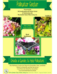 pollinator center sign photo the garden club of new jersey