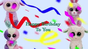 happy birthday beanie boo version karaoke codys beanie boos