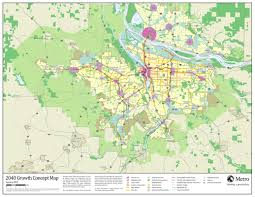Portland Metro Map by Land Use Portland Oregon