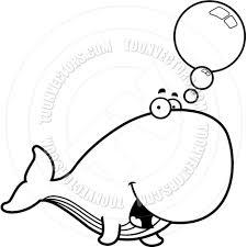 cartoon whale talking black and white line art by cory thoman
