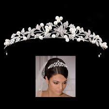 wedding tiara ivory wedding tiaras and headbands ebay