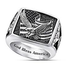stainless steel mens rings ring wings of freedom stainless steel patriotic eagle ring