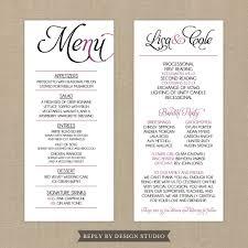 wedding program ideas diy stunning diy wedding menu cards ideas styles ideas 2018 sperr us