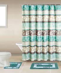 shower curtains set blue waters bath set 5 piece coastal nautical home