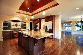 Luxury Kitchen Floor Plans Impressive Ceiling Decoration Using Glass Pendant Lamps For Luxury