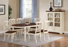 Cottage Style Dining Room Furniture by Cameron 7 Pc Cottage Oval Leg Table Set In Buttermilk U0026 Dark