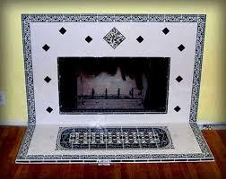 hand painted fireplace tiles by balian tile studio