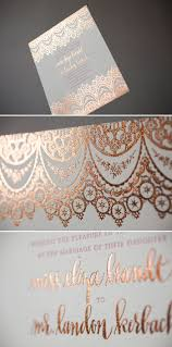 Thailand Wedding Invitation Card Copper Foil Wedding Invitations With Pink Letterpress We Die