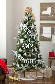 burlap christmas tree garland christmas lights decoration
