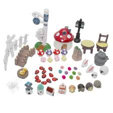 ljy fairy garden dollhouse decor miniature ornament diy kit pack