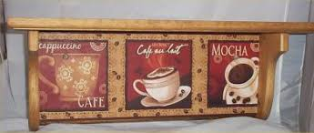 Cafe Home Decor Coffee Wood Wall Shelf Mocha Cappuccino Cafe Home Decor Kitchen