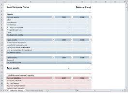 Balance Sheet Template Excel Free Balance Sheet Template Free Balance Sheet Template