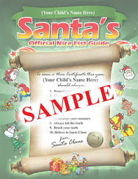 official letters from santa santa s official personalized list guide