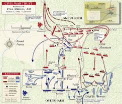 Ar Map Battle Of Pea Ridge Leetown Fight March 7 1862 Civil War Trust