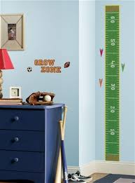 Sports Themed Wall Decor - ball sports peel and stick growth chart removable wall decals