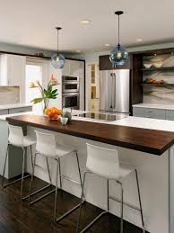 kitchen white contemporary wooden countertop glass pendant