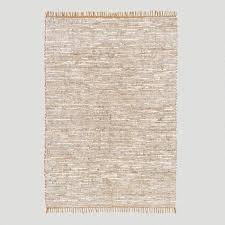 reclaimed leather u0026 jute rug world market