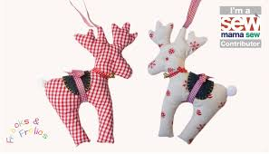 how to sew a reindeer christmas craft u0026 free patterns youtube
