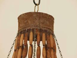 Country French Chandelier by Look Of French Tole And Wood Bead Chandelier At 1stdibs