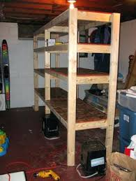 basement shelving diy storage shelf plans plansfirewood rack