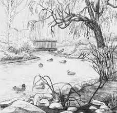drawing image natural scenery pencil drawing pencil sketch drawing