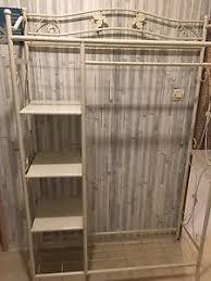 chambre fer forgé meuble vestiaire penderie pour entrée ou chambre fer forgé blanc