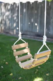 Swing Set For Backyard by 8 Beaded Wooden Swing Set Swings Backyard And Diy Design