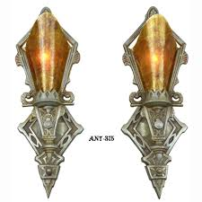 Wall Sconce Art Deco Pair Of Antique Restored Art Deco Wall Sconces Lights Lighting