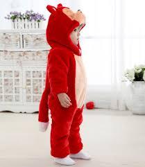 Baby Raccoon Halloween Costume Red Raccoon Jumpsuit Climbing Clothes N6261