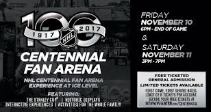 nhl centennial fan arena 100 centennial fan arena bell mts place