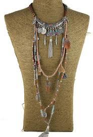 long ethnic necklace images Gypsy statement long necklace choker ethnic boho tribal tassel jpg