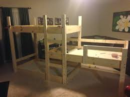 3 Level Bunk Bed Somehow It All Came Together The Great Triple Bunk Bed Build
