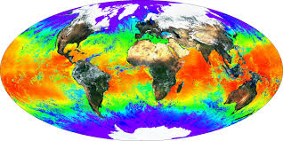 World Temperature Map by Nasa Visible Earth Global Surface Reflectance And Sea Surface