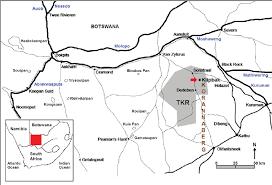 africa map kalahari map of south africa showing the location of the korannaberg tswalu
