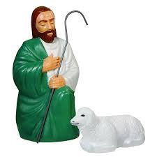 amazon com nativity scene shepherd and sheep with lights