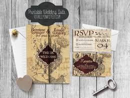 harry potter wedding invitations harry potter wedding invitation set marauder s map printable diy