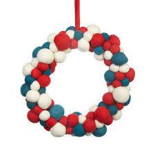 colourful handmade felt christmas wreath by felt so good