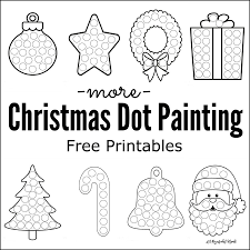 more christmas dot painting free printables dot painting kid
