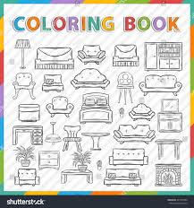 vector coloring bookhand drawn icon set stock vector 245702380