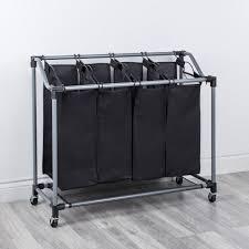 honey can do folding table honey can do roll on over quad laundry sorter black kitchen