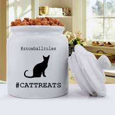 personalized cat silhouette treat jar