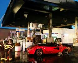 Wildfire Sports Car Value by Lamborghini Explodes Into Flames At Redwood City Gas Station Sfgate