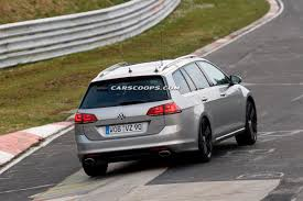 vw golf r wagon pictured and filmed running around the u0027ring