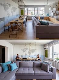 Wohnzimmer Einrichten Kleiner Raum In Dieses Moderne Apartment Teilen Wohnzimmer Und Esszimmer Den