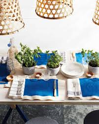 Martha Stewart Dining Room Furniture by Shades Of Blue Summer Party Decorations Martha Stewart