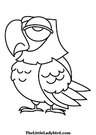 pirate parrot coloring pages inside parrot coloring pages
